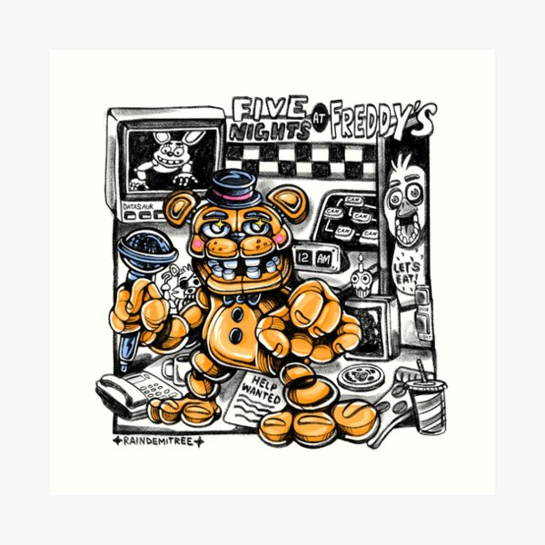 Five Nights at Freddy's: Help Wanted Art Print