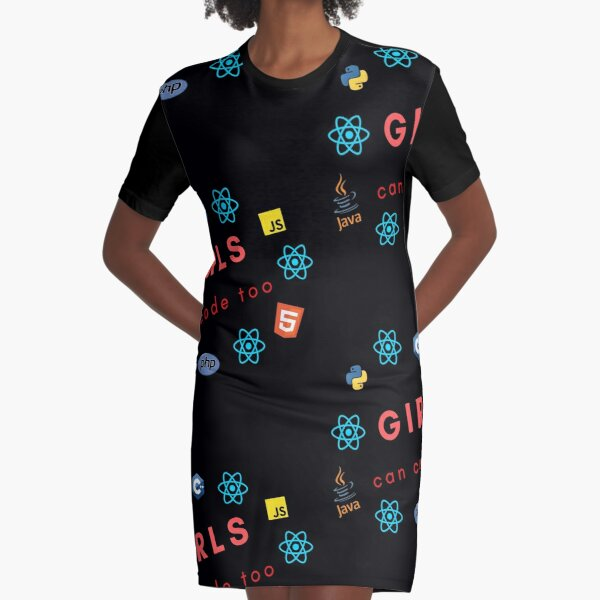girls can code too Graphic T-Shirt Dress
