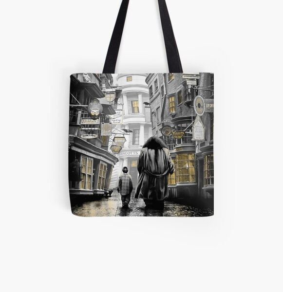 diagon alley harry All Over Print Tote Bag