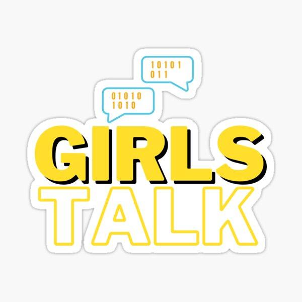 girls talk Sticker