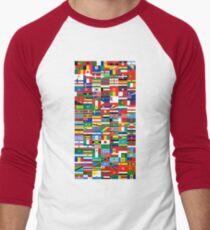 Flags of the World Men's Baseball ¾ T-Shirt
