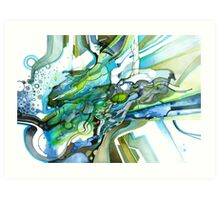 Approaching Eleven Percent From Behind  - Watercolor Painting Art Print