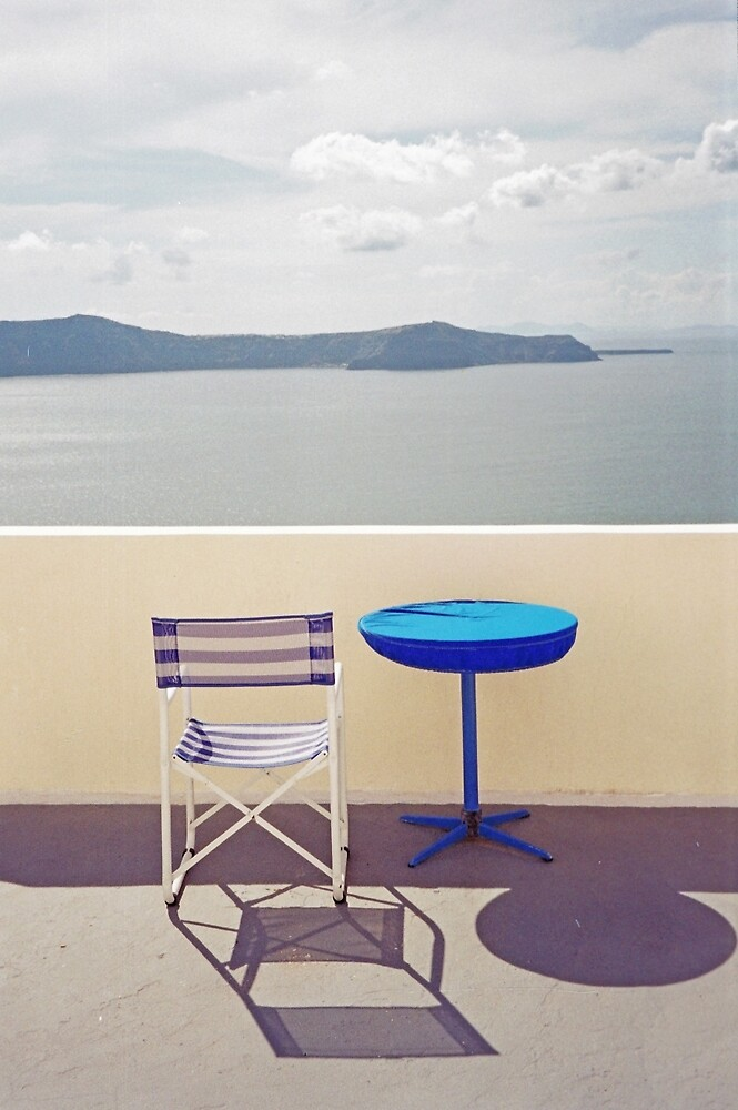Contemplation, Santorini by Leigh Penfold