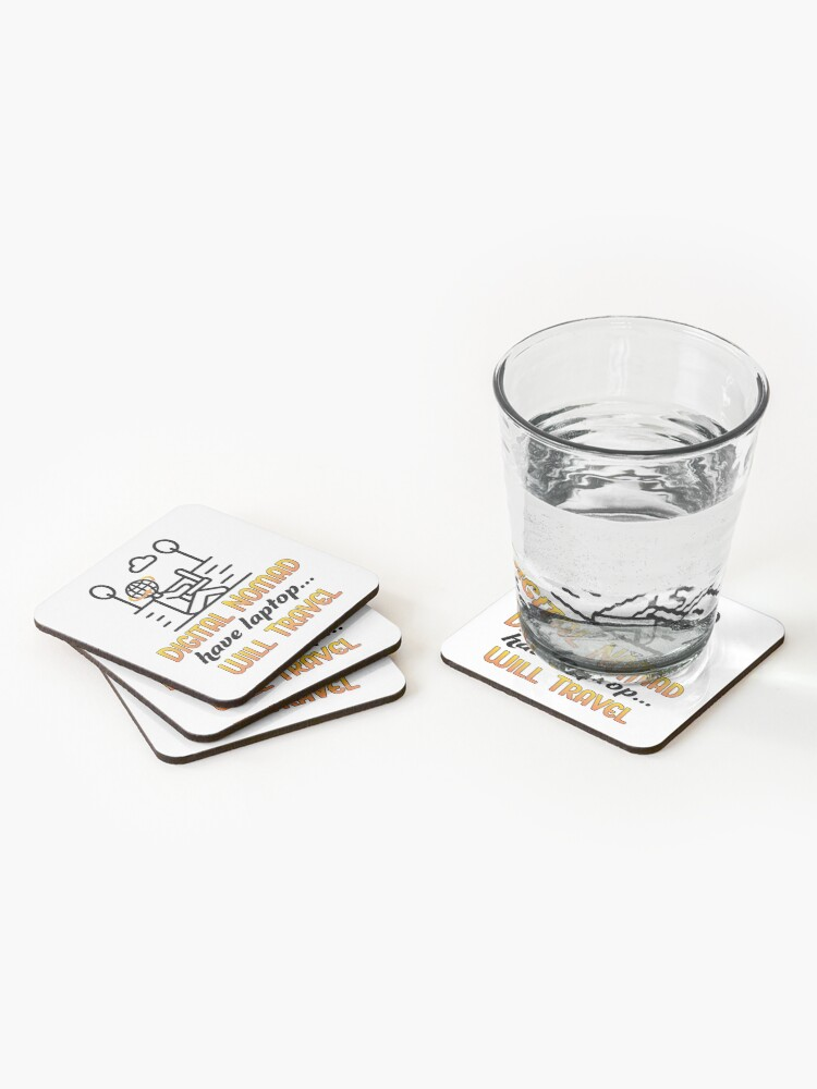 Alternate view of Digital Nomad. Coasters (Set of 4)