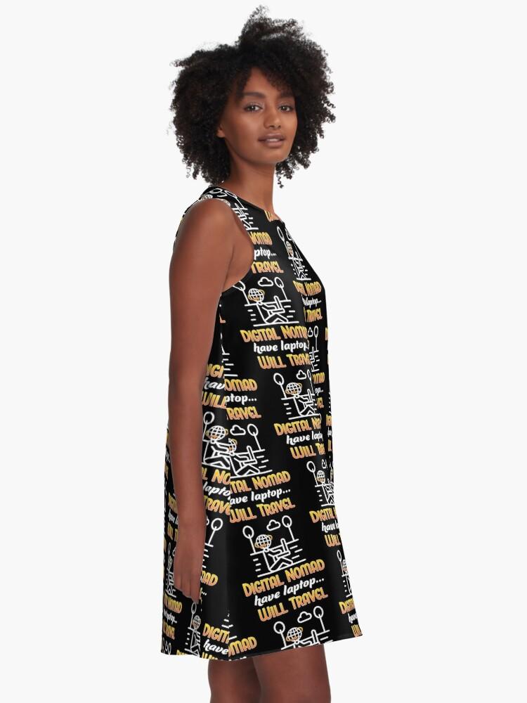 Alternate view of Digital Nomad. A-Line Dress