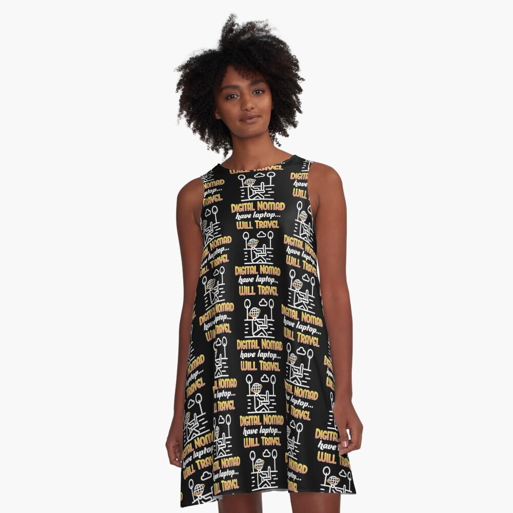 Digital Nomad. A-Line Dress