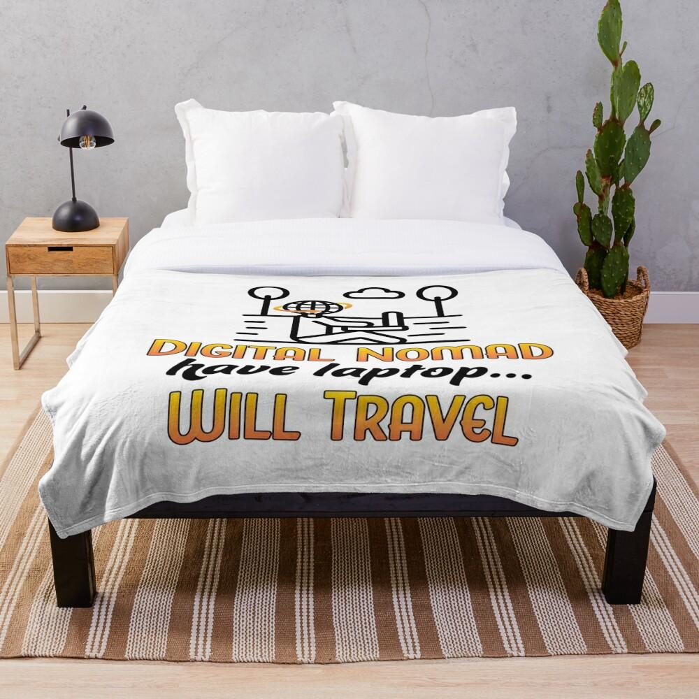 Digital Nomad. Throw Blanket