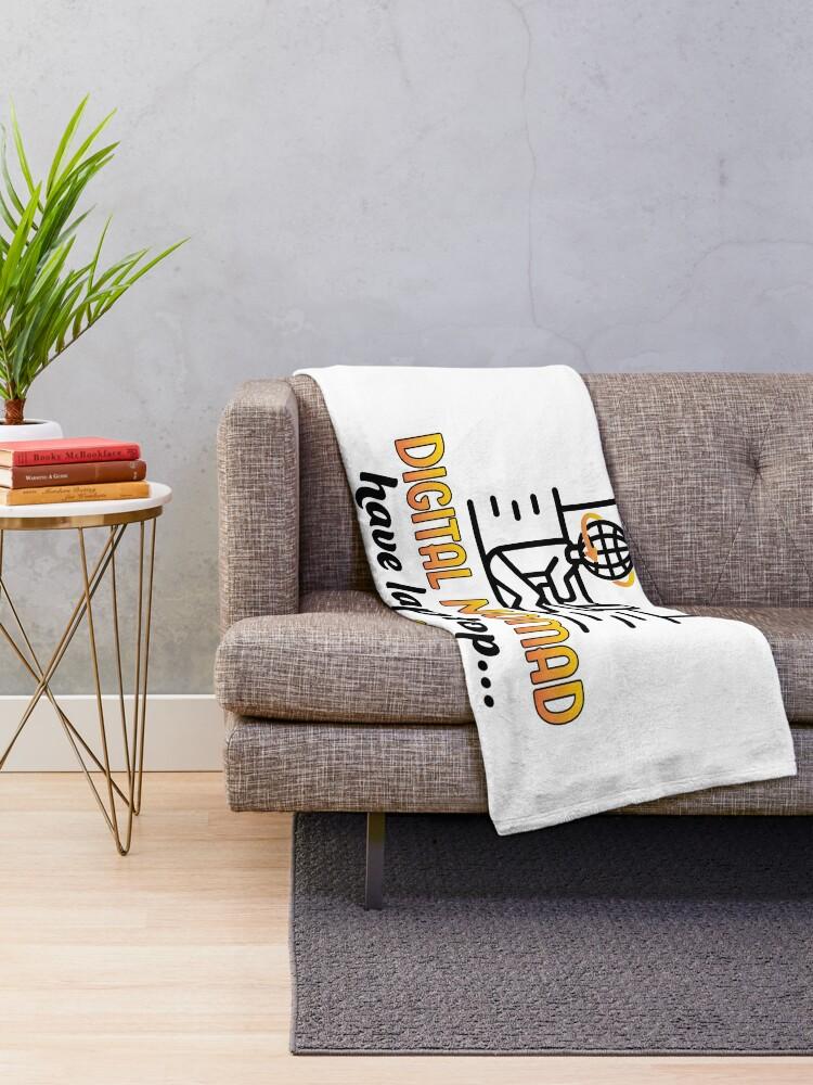 Alternate view of Digital Nomad. Throw Blanket