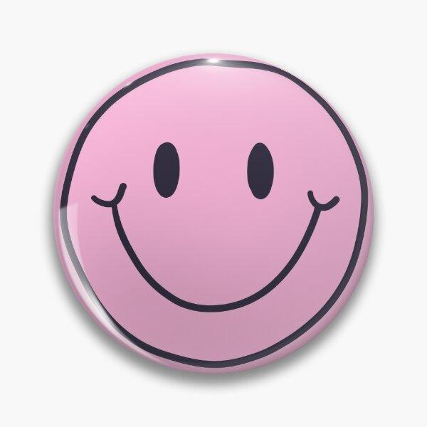 Pastel Pink Smiling Face  Pin