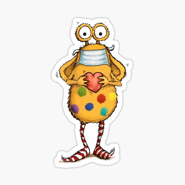 Pumpf Loni wears a mask Sticker