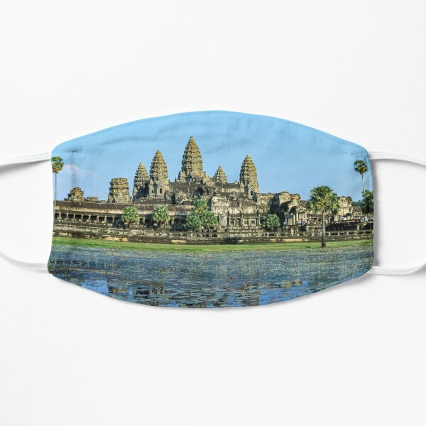 Angkor Wat and its reflection in the lake - Cambodia Mask