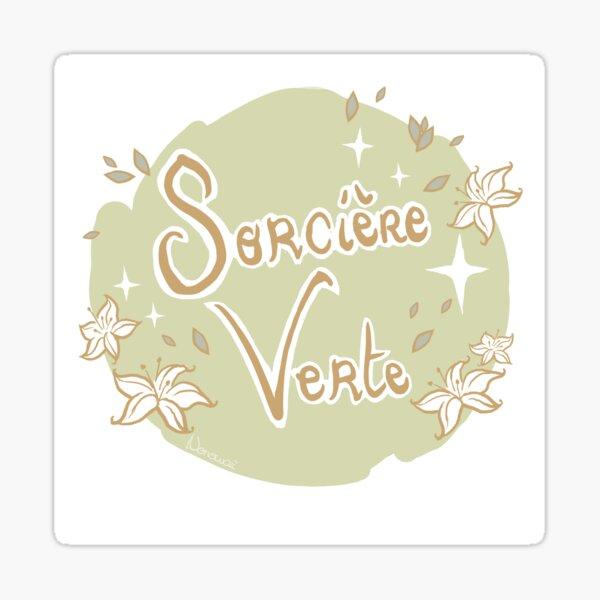 Sorcière verte - Ecriture Sticker