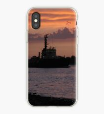 Tugging Along At Sunset iPhone Case
