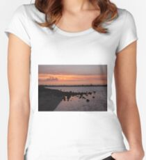 Sunset at NorthArm Women's Fitted Scoop T-Shirt