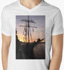 One and All at Sunset Mens V-Neck T-Shirt