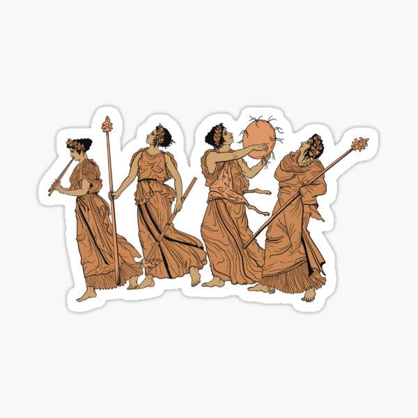 Dancing Maenads Sticker