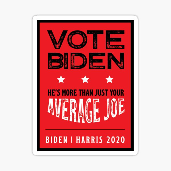 Vote Joe Sticker