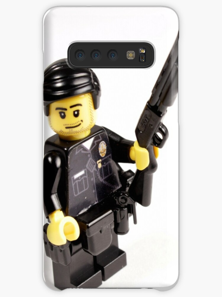 'LAPD Patrol Officer - Custom LEGO Minifigure' Case/Skin for Samsung Galaxy  by Brick Police