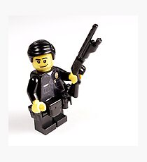 LAPD Patrol Officer - Custom LEGO Minifigure Photographic Print