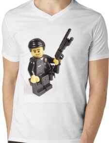 LAPD Patrol Officer - Custom LEGO Minifigure Mens V-Neck T-Shirt