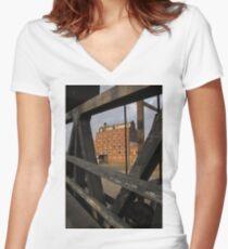 Waiting Restoration Women's Fitted V-Neck T-Shirt