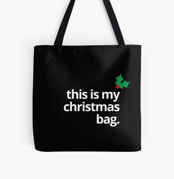 My Christmas... Holly All Over Print Tote Bag