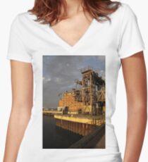 Restoring the Port Women's Fitted V-Neck T-Shirt