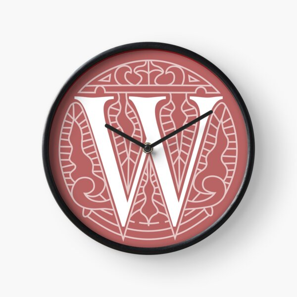 WesterosCraft Circle Logo Pale Red Clock