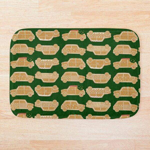 Gingerbread Green Pattern Classic English Car Bath Mat