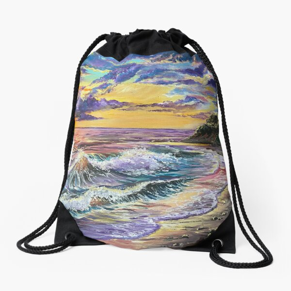 Isla Vista Sunset Drawstring Bag