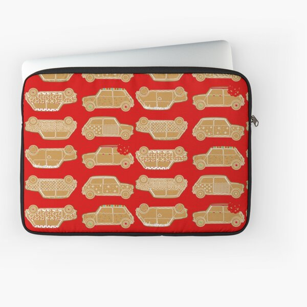 Gingerbread Red Pattern Classic English Car Laptop Sleeve
