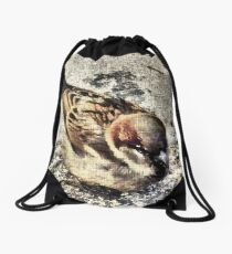 A Little Brown Birdy    Drawstring Bag