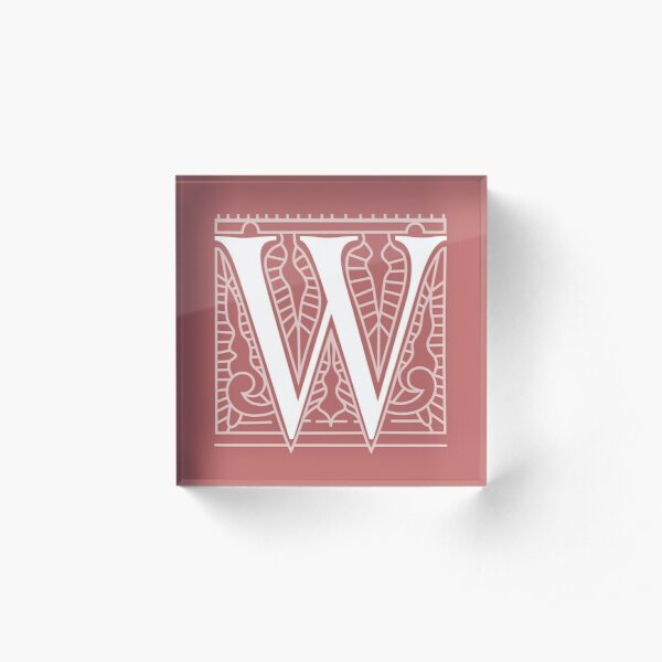 WesterosCraft Square Logo Pale Red Acrylic Block
