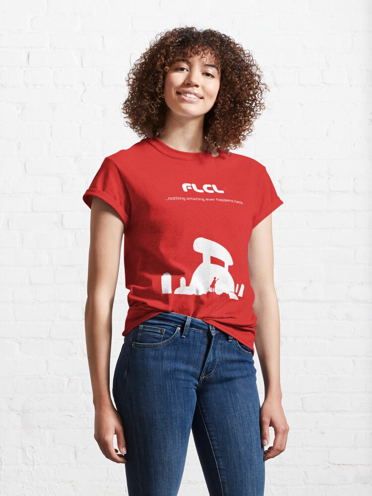 Alternate view of Fooly Cooly T-Shirt (White Boarderless) Classic T-Shirt