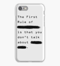 """The First Rule"" - Sans Background iPhone Case/Skin"