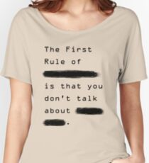 """The First Rule"" - Sans Background Women's Relaxed Fit T-Shirt"