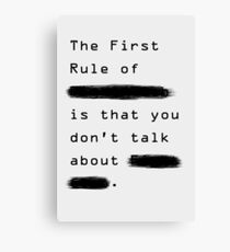 """""""The First Rule"""" - Sans Background Canvas Print"""