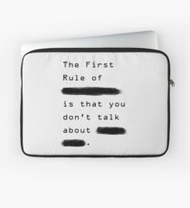 """""""The First Rule"""" - Sans Background Laptop Sleeve"""