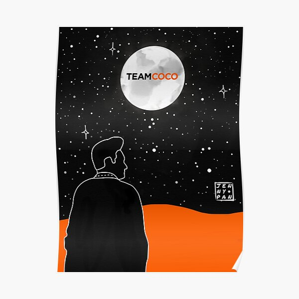 Conan O'Brien Night Sky  Poster