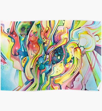 Timeless June 26 2007 - Watercolor Painting Poster