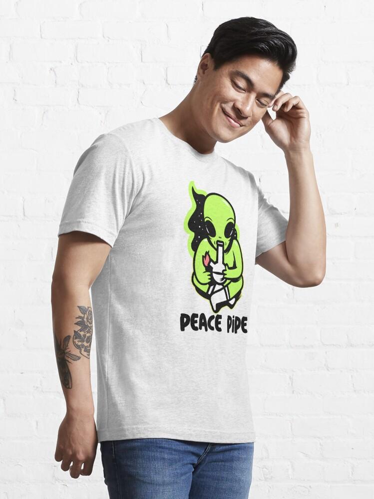 Alternate view of alien smoking bong Essential T-Shirt