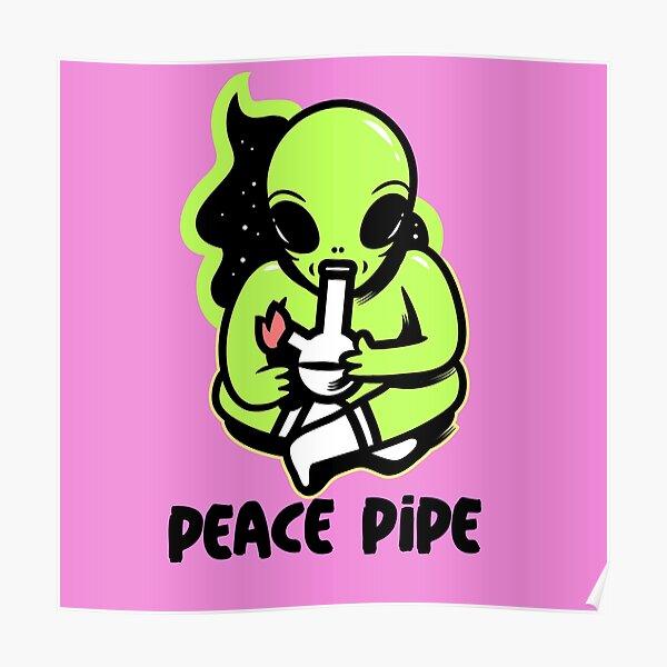 alien smoking bong Poster
