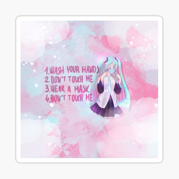 Miku don't touch me mask Sticker