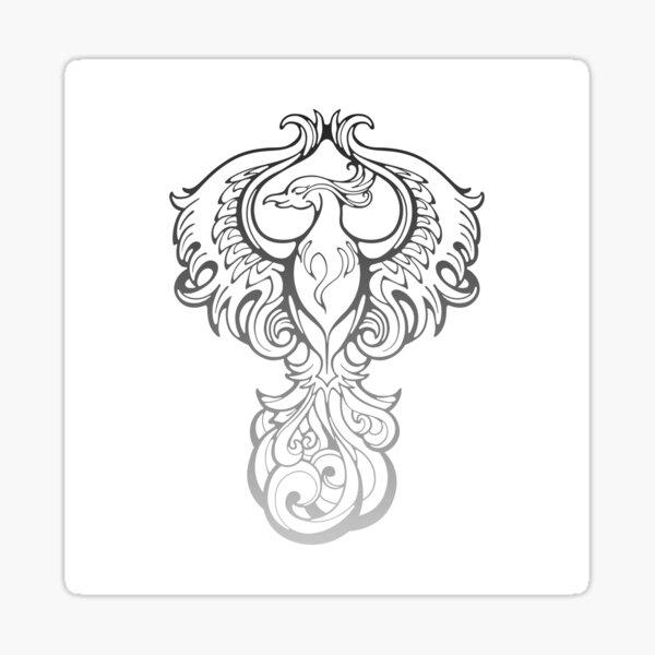 Ink Phoenix Sticker