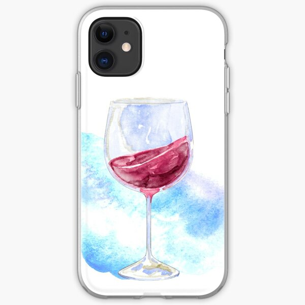 Glass of red wine iPhone Soft Case