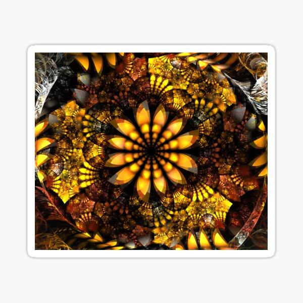 Harvest Plate Fractal Fall Art for Autumn Sticker