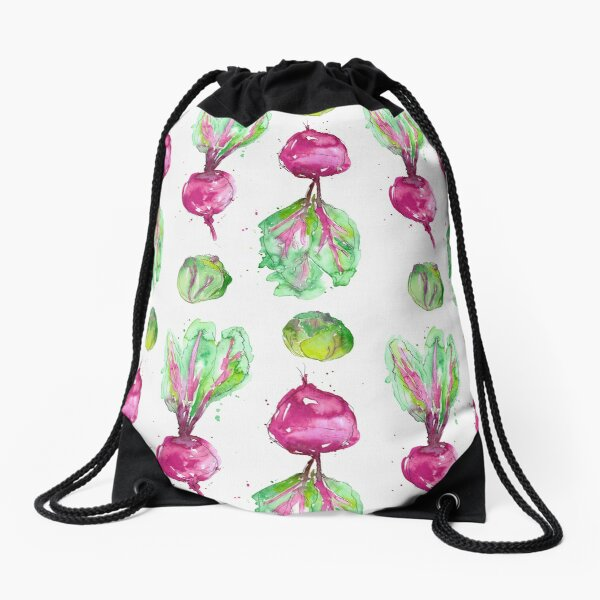 Watercolour Beetroot Drawstring Bag