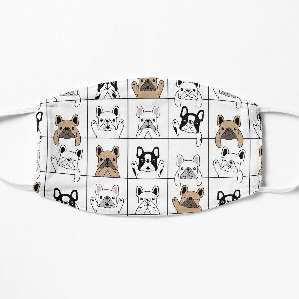 Dog seamless pattern | french bulldog puppy Flat Mask