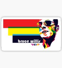 bruce willis wpap Sticker