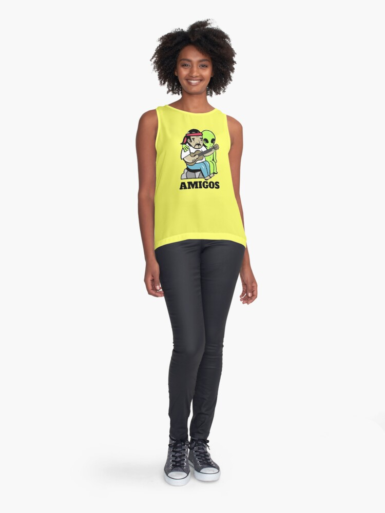 Alternate view of Hippie and alien Sleeveless Top